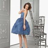 niebieska suknia Aire Barcelona kr�tka