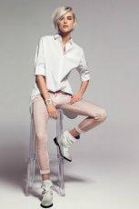 bluzka Mango w kolorze bia�ym - jesie� 2012 trendy