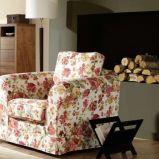 fotel w kwiaty - wn�trza w stylu rustykalnym