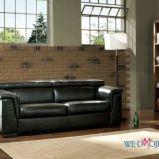 czarna sk�rzana sofa - nowoczesne wn�trza