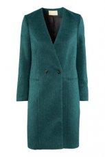 p�aszcz H&M w kolorze butelkowej zieleni - jesie�-zima 2012/2013