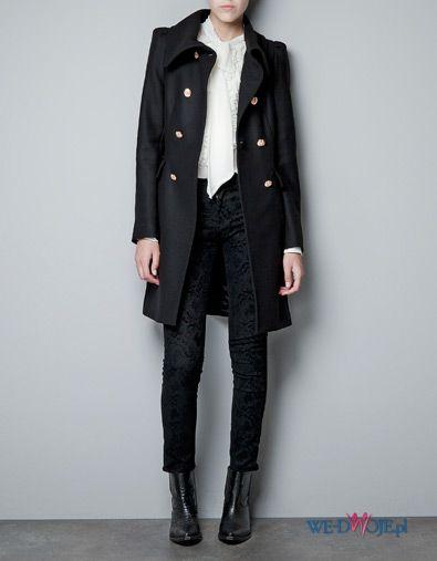 p�aszcz ZARA w kolorze czarnym - moda damska jesie�-zima 2012/2013