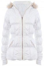 pikowana kurtka Tally Weijl w kolorze bia�ym - jesie�-zima 2012/2013