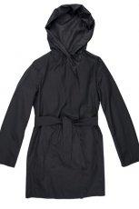 prosta kurtka Aryton z kapturem w kolorze czarnym - kolekcja jesienno - zimowa 2012/2013
