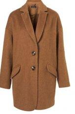 p�aszcz Topshop w kolorze br�zowym - moda damska jesie�-zima 2012/2013