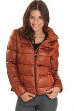 zimowa pikowana kurtka s.Oliver w kolorze br�zowym - kolekcja jesienno-zimowa 2012/2013