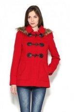 modny p�aszcz Orsay w kolorze czerwonym - kolekcja jesienn-zimowa 2012/2013