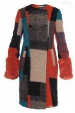 rewelacyjny p�aszcz Monnari na guziki, w kratk� - jesie�-zima 2012/2013