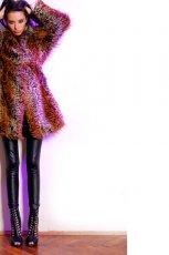 futro Aga Kowala-Surma w kolorze fioletowym - jesie�-zima 2012/2013