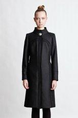 modny klasyczny p�aszcz Babich w kolorze czarnym - kolekcja jesie�-zima 2012/2013