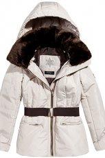 bia�a kurtka z paskiem Reserved - moda jesienno - zimowa 2012/2013