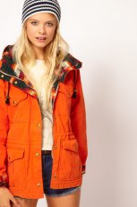 zimowa kurtka Asos w kolorze pomara�czowym - kolekcja jesienno - zimowa 2012/2013