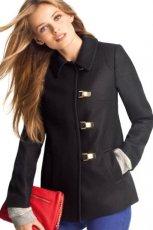 modny p�aszczyk H&M w kolorze czarnym - moda jesienno - zimowa 2012/2013