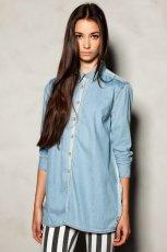 Orginalna b��kitna koszula Pull and Bear jeansowa - jesie�-zima 2012/2013