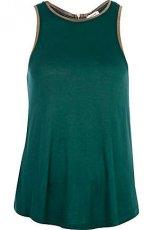 top River Island w kolorze ciemnozielonym - moda na jesie�-zim� 2012/2013