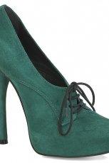 wi�zane p�buty Kazar w kolorze butelkowej zieleni - kolekcja jesienno-zimowa 2012/2013