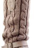ekstra kozaki CCC w kolorze br�zowym z we�nianym �ci�gaczem  - kolekcja damska 2012/ 2013