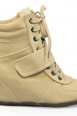 na koturnie obuwie sportowe Stylowe buty w kolorze ��tym