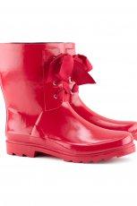 cudne kalosze H&M w kolorze czerwonym  - moda damka 2012/2013