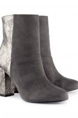 rewelacyjne botki H&M w kolorze popielatym i w w�owy dese� - jesie�-zima 2012/2013