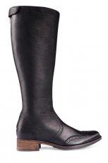 p�askie kozaki Gino Rossi w kolorze czarnym  - kolekcja jesie�-zima 2012/2013