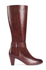 wygodne kozaki Gino Rossi w kolorze br�zowym - moda damska 2012/2013