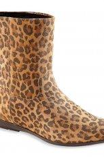 wygodne p�askie botki C&A w panterk�  - obuwie damskie na jesie�-zim� 2012/2013