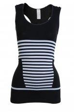 Modny top Adidas w paski w kolorze czarnym - moda 2012/13