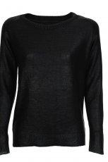 Klasyczny g�adki sweter Camaieu w kolorze czarnym  z kolekcji jesienno-zimowej 2012/13