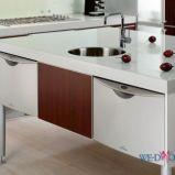 Nowoczesna wyspa kuchenna w kolorze bia�ym b�yszcz�ca Trendy 2012