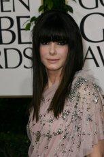 d�ugie w�osy z d�ug� grzywk� - Sandra Bullock  - trendy fryzjerskie 2012/2013