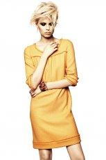 musztardowa sukienka DanHen - jesie� 2012