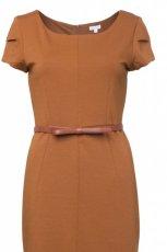 br�zowa sukienka Solar z paskiem - kolekcja jesienna