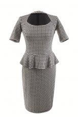 elegancka sukienka Orsay z baskink� w pepitk�  - sukienki na jesie� i zim� 2012/2013
