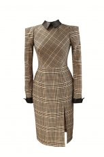 elegancka sukienka Orsay w krat�  - sukienki na jesie� i zim� 2012/2013