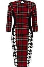 o��wkowa sukienka River Island w kratk� i pepitk� - wzory 2012/2013