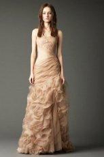 oryginalna  be�owa suknia �lubna Vera Wang  z kolekcji jesie�/zima 2012/13