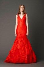 wyj�tkowa  czerwona suknia �lubna Vera Wang  wiosna 2013