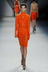 pomara�czowa bluzka Vera Wang przezroczysta   kolekcja na jesie�