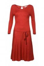 rozkloszowana sukienka Solar w kolorze czerwonym - jesie� - zima 2012/13