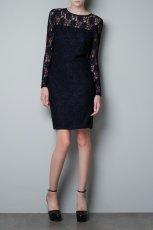 koronkowa sukienka ZARA w kolorze czarnym  - moda damska 2012/13