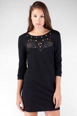 prosta sukienka Stradivarius w kolorze czarnym z r�kawem 3/4 - sukienki 2012/13