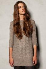 zimowa sukienka Pull and Bear w kolorze popielatym  - jesie� - zima 2012/13