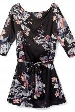 tunika - sukienka Reserved w kwiaty  - sukienki 2012/13