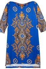 oryginalna sukienka Reserved w kolorze niebieskim z kr�tkiem r�kawem - sukienki 2012/13