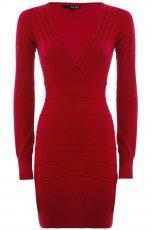 jesienna sukienka - tunika Tally Weijl w kolorze bordowym  - jesie� - zima 2012/13