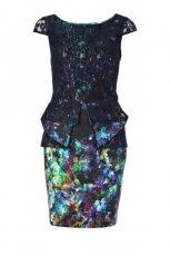 dopasowana sukienka River Island w kwiaty   - moda damska 2012/13