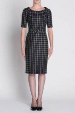 prosta sukienka Simple w kratk�   - kolekcja jesienno-zimowa 2012/13