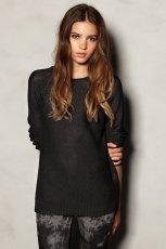 zimowy sweter Pull and Bear w kolorze czarnym   - swetry 2012/13