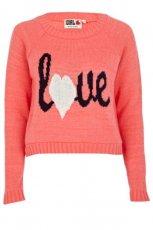 kr�tki sweter River Island w kolorze pomara�czowym   - ubrania na jesie� i zim� 2012/13